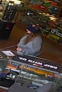 Female suspect in use of stolen credit card